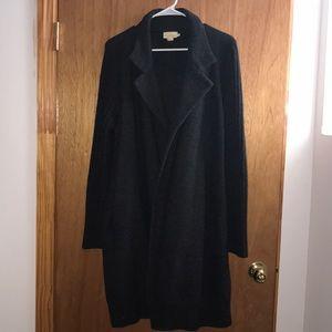 PureDKNY long wool grey cardigan coat